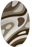 rug #1228047 | oval white abstract rug