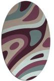 rug #1228051 | oval pink retro rug