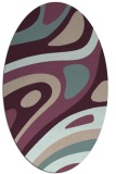 rug #1228054 | oval abstract rug