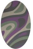 rug #1228071 | oval purple abstract rug