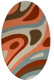 rug #1228103 | oval orange retro rug