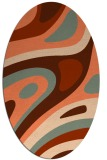 rug #1228107 | oval red-orange abstract rug
