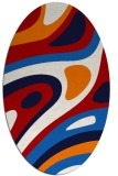 rug #1228143 | oval red abstract rug
