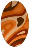 rug #1228163 | oval red-orange graphic rug