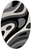 rug #1228175 | oval black graphic rug