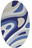 rug #1228183 | oval white graphic rug