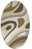 rug #1228207 | oval white retro rug