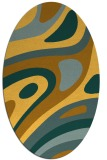 rug #1228215 | oval light-orange abstract rug