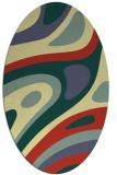 rug #1228219 | oval yellow rug