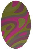 rug #1228231 | oval pink retro rug