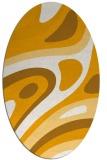 rug #1228239 | oval light-orange graphic rug
