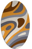 rug #1228247 | oval white abstract rug