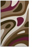 rug #1228411 |  mid-brown retro rug