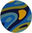rug #1228651 | round blue retro rug
