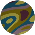 rug #1228695 | round green abstract rug