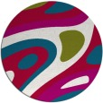 rug #1228735 | round red abstract rug