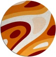 rug #1228835 | round orange abstract rug