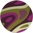 rug #1228867 | round green abstract rug