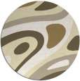 rug #1228943 | round white abstract rug
