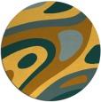 rug #1228951 | round yellow abstract rug