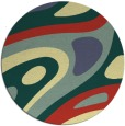 rug #1228958 | round abstract rug