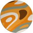 rug #1228979 | round light-orange abstract rug