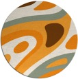 rug #1228981 | round abstract rug