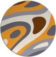 rug #1228983 | round light-orange popular rug
