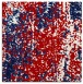 rug #1271935 | square red abstract rug