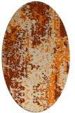 rug #1272043 | oval beige abstract rug