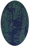 rug #1272083 | oval blue-green abstract rug