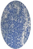 rug #1272091 | oval blue abstract rug
