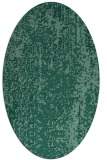 rug #1272099 | oval blue-green abstract rug