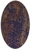 rug #1272147 | oval beige abstract rug