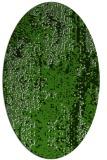 rug #1272187 | oval green abstract rug