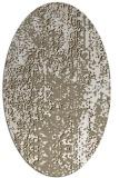 rug #1272207 | oval white abstract rug