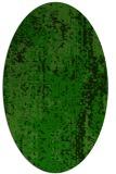 rug #1272251 | oval green rug