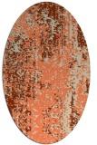 rug #1272263 | oval beige abstract rug