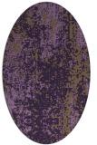 rug #1272295 | oval purple abstract rug
