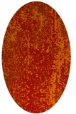 rug #1272307 | oval red abstract rug