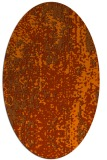 rug #1272319 | oval red-orange abstract rug