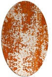 rug #1272331 | oval red-orange abstract rug