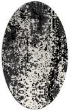 rug #1272335 | oval white abstract rug
