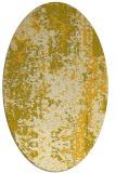 rug #1272363   oval yellow abstract rug