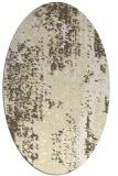 rug #1272367 | oval white abstract rug