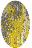 rug #1272371 | oval white abstract rug