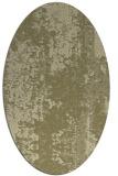 rug #1272387 | oval light-green rug