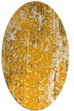 rug #1272399 | oval light-orange abstract rug