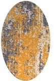 rug #1272407   oval white abstract rug