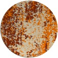 rug #1272779 | round orange abstract rug